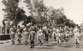 general Glubb  taking the salute of the arab legion jordan 1952