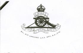 Membership card of The 2nd Air landing Anti Aircraft RA (TA)