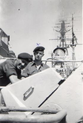 A Coy 3 PARA On board HMS Triumph 1951