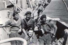 Men of A Coy 3 para on board HMS Triumph heading for the MIddle East  1951