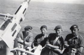 Men of A Coy 3 PARA en route to Middle East on board HMS Triumph 1951