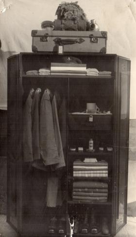 Photograph  showing correct layout of uniform mid 1950s