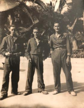 3 members of 6 Royal Welch, Taranto harbour