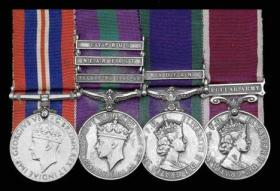 """Medal set awarded to herbert d """"nobby"""" arnold"""