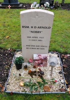 "grave of herbert ""nobby"" arnold in aldershot"