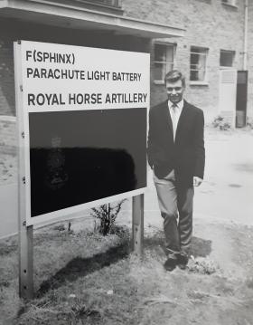 Douglas P Edgar by F(Sphinx) Parachute light Artillery RHA Sign