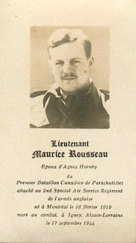 Memorial card Maurice and Phillipe Rousseau