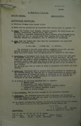 11 SAS War Diary, Jul 1941, and mention of new helmets