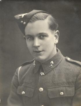 Private RWH Fermor circa 1938 in uniform of Gunner Royal Artillery