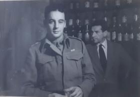 Lt William M Roberts in The Trocadero Club, Rome