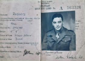 Military ID Card for Lt WM Roberts