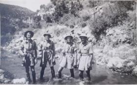 Lt William M Roberts with his men