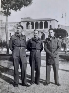 Lt William M Roberts and fellow officers in Italy