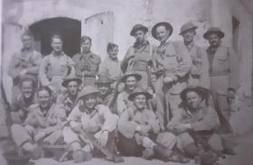 Lt William M Roberts and members of his unit in San Martino