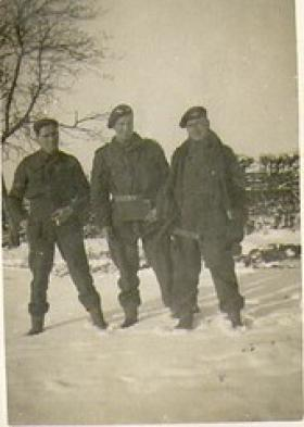 Sgt RJ Giles in the Ardennes 1945