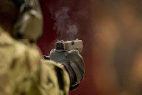 Glock 17 Gen 4/L131A1 9mm pistol firing