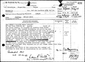 Lt Edward E Clapham MC Citation, Sicily 1943