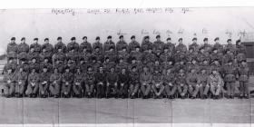 Parachute training course 395 RAF Abingdon March 1955