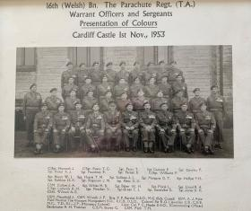 16 (Welsh) Bn  Para Reg TA Cardiff WOs & Sgts 1953