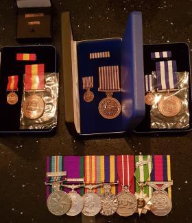 Medal set for Roger W Taylor
