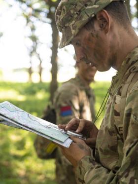 G Parachute Bty (Mercer's Troop) 7 Parachute Regiment Royal Horse  Artilleryheld a gun detachment competition, 25 Jun