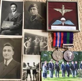 Memorabilia from the service of Pte BA Perkins