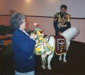 Sgt. Pegasus III with his handler Cpl Penrose
