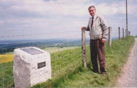 Memorial stone for 9 Bn Walbury Hill, Inkpen 1993