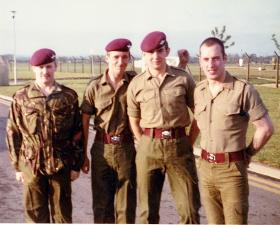 RJ Coates and friends at Brize Norton 1984