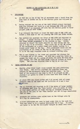Report on the Activities of 8 Pln C Coy 3 Para, 25-27 May 1964, Radfan