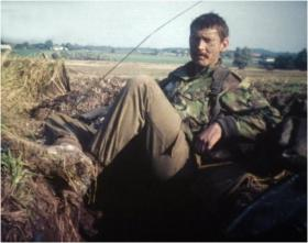 Cpl Barry Crowe on Exercise in Denmark