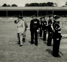 'Monty', BM F Morgan and Mayor of Aldershot 1950s