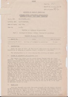 AFEE Report on Folding Bicycles, August, 1944