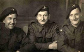 Gwyn Jenkins with two fellow Paratroopers