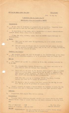 1 Airborne Div Op Instructions No.10  13 September 1944
