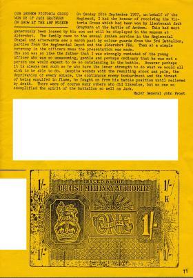 Para 2 Club newsletter Lt J Grayburn VC