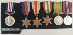 Medal set for Flt Sgt Charles Cox MM