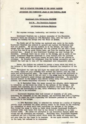 Lt Grayburn VC Citation