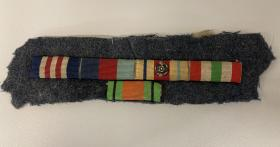 Flt Sgt Cox Medal Ribbons from his uniform
