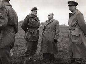 Flt Sgt Charles Cox with senoir airborne officers