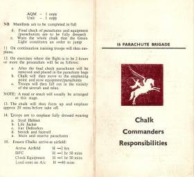 Chalk Commanders Resposibilities Booklet