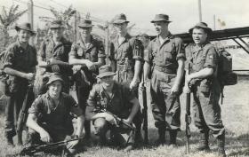 Kluang Malaya 1963 ready for jungle training