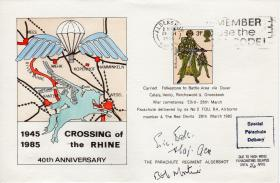 Postcard signed by Maj Gen E Bols