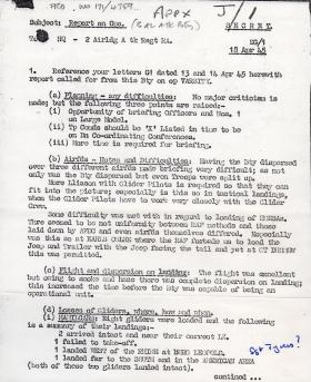 3 Airlanding ATk Batt RA Report on Ops 18 April 1945