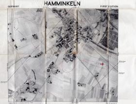 Map of Hamminkeln used by Major J Slater