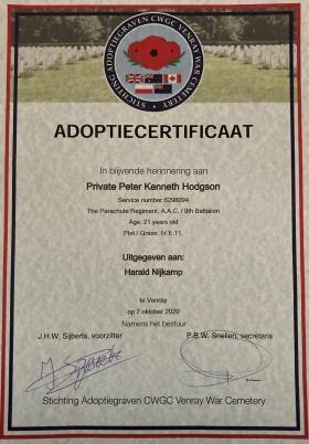 Certificate Pte PK Hodgson