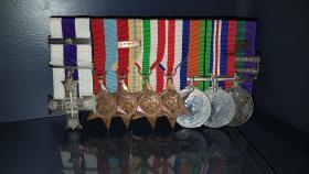 Lt Col D Crawley Medal set