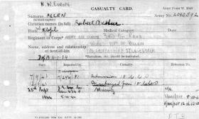 Service record of Robert A Allen