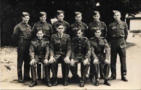 Reginal Foley with Royal Berkshire Regiment 1943 (basic training)