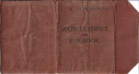 AB64 Soldiers service and pay book for Sigmn RL Foley